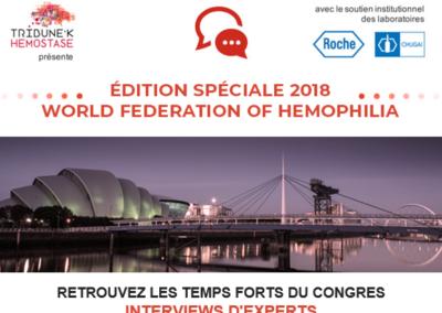 Edition spéciale World Federation of Hemopolia 2018